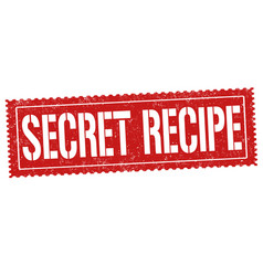 secret recipe grunge rubber stamp vector image