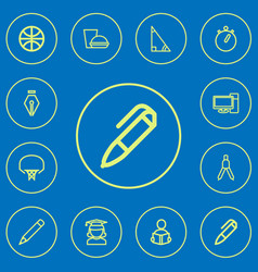 Set of 12 editable science outline icons includes vector