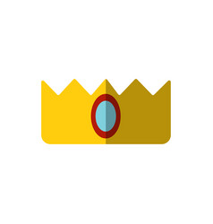 simple crown icon isolated on white vector image