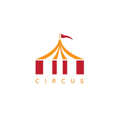 simple with circus tent and flag vector image