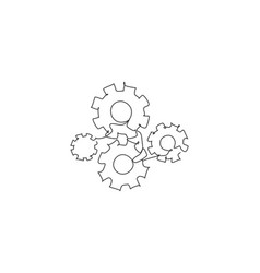 single continuous line drawing metal wheel vector image