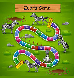 Snakes ladders game zebra theme vector