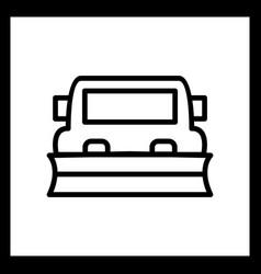 Snowplow icon vector