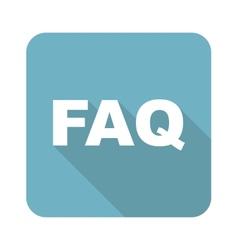 Square FAQ icon vector