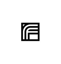 square stripes logo letter f vector image