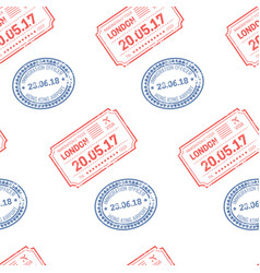 Stamps and postal signs date and destination vector
