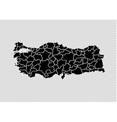 Turkey map - high detailed black map with vector