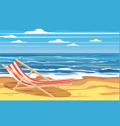 Vacation travel relax tropical beach beach vector