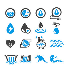 water energy icon vector image