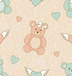 Wedding teddies vector
