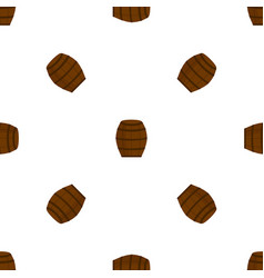 wooden barrel for wine beer seamless pattern vector image