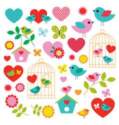 bird valentines day clipart vector image