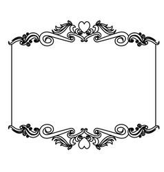 decorative card frame floral border cute image vector image