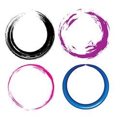 Grunge circle vector image