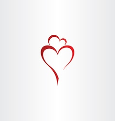 mother and daughter love heart icon red logo vector image vector image