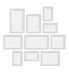 White frame big set vector image vector image