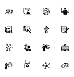 business and finances icons set flat design vector image vector image