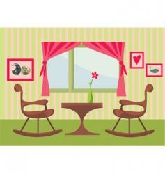 cute interior vector image