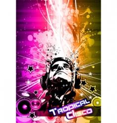 disco flyer vector image