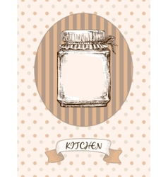Kitchen design Jar vector image vector image