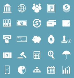 Banking icons on blue background vector image