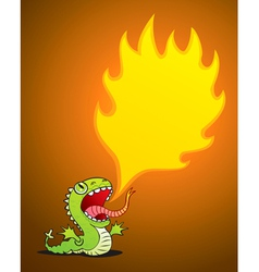 dragon spewing flames vector image