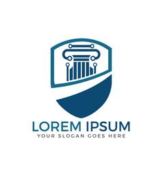 lawyer logo design vector image
