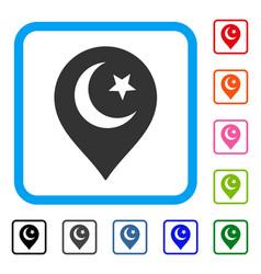muslim symbol marker framed icon vector image vector image