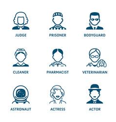 profession icons - set iii vector image vector image