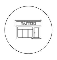 tattoo salon building parlor icon outline single vector image vector image