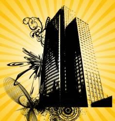 urban building graphic vector image