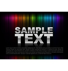 vertical lines abstract rainbow dark top text vector image vector image