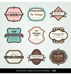 Vintage labels and frames vector image vector image