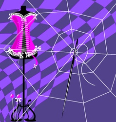 web and craft vector image