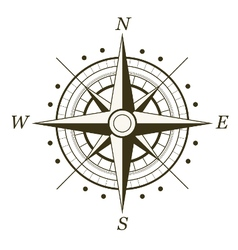 Wind rose isolated vector image