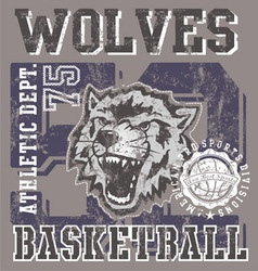 wolves basketball team vector image vector image