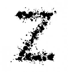alphabet ink z vector image vector image