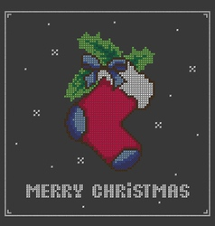 Christmas sock vector image