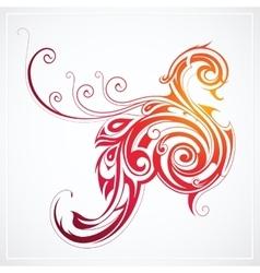 Fire bird as peacock vector image