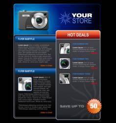 photo brochure vector image vector image