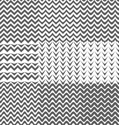 Set of Zig Zag Patterns Background vector image