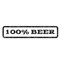 100 percent beer watermark stamp vector