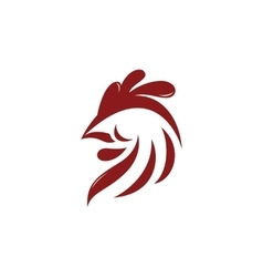 Abstract rooster logo template vector image