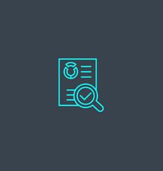 Audit concept blue line icon simple thin element vector
