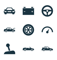 Automobile icons set collection of auto vector