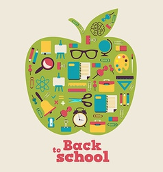 Back to school background design vector
