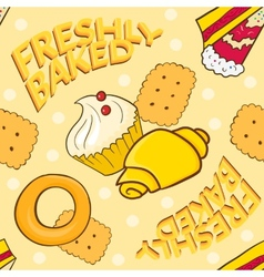 Bakery seamless pattern beautiful holiday vector image