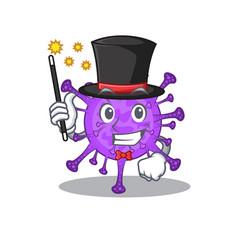 Bovine coronavirus performance as a magician style vector