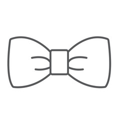 bow tie thin line icon tuxedo and knot necktie vector image