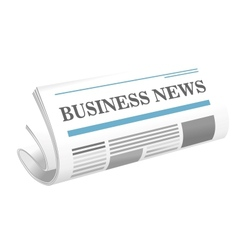 Business news paper icon vector